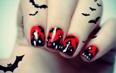 Violette dorée halloween  #nail #nails #nailart