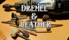 Today we will go over how to use a dremel with leather for your next project. We will also talk about how to engrave leather with a dremel tool. Diy Leather Tools, Diy Leather Working, Custom Leather Belts, Leather Working Patterns, Diy Leather Projects, Leather Diy Crafts, Sewing Leather, Handmade Leather, Leather Jewelry