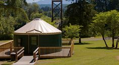 Tolt MacDonald Park and Campground, Carnation (40m from downtown Seattle). Yurts and one container to rent, tent and RV sites.