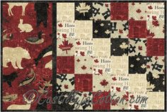 Sixes Placemats Pattern, C$10.00 www.northcott.net Oh Canada