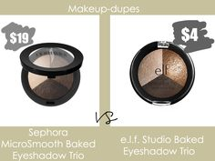 You can create a flawless look with these baked eyeshadows! Elf Eyeshadow, Sephora Eyeshadow, Baked Eyeshadow, Skincare Dupes, Beauty Dupes, Beauty Makeup, Cheap Makeup, Diy Makeup, Makeup Tips