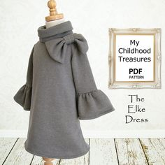 Girls Dress PDF sewing pattern, Childrens sewing pattern, Kids baby sewing pattern, Childrens clothing, Instant Download, Elke Dress via Etsy