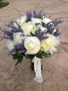 Peony and lavender bouquet  Four Leaf Clover Designs NEPA