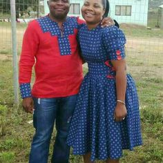 Seshweshwe Dresses, African Clothes, African Dresses For Women, African Men Fashion, African Print Dresses, Africa Fashion, African Attire, African Fashion Dresses, Setswana Traditional Dresses