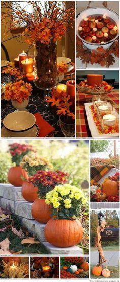 What do you think? Autumn Decorating, Decorating Ideas, Decor Ideas, Fall Home Decor, Holiday Decor, Adornos Halloween, Fall Arrangements, Thanksgiving Decorations, Thanksgiving Fruit