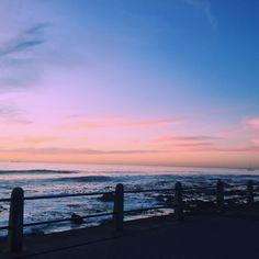 Walking along the Seapoint promenade. Caught this beautiful pink horizon with my iPhone 6 Pink Sky, Cape Town, Watercolour, Iphone 6, Shots, Walking, Sea, Celestial, Sunset