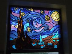 Starry Night in stained glass by Chief