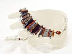 Fan Necklace Egyptian Style Statement Necklace Jasper by bluetina, €75.00