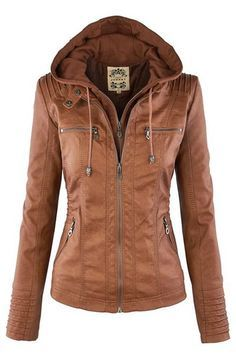 Stylish Convertible Collar Long Sleeve Solid Color Zippered Jacket For Women