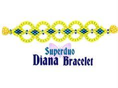 Tutorial Superduo Diana pulsera instantánea por ButterflyBeadKits