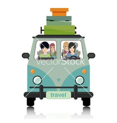 Luggage vans vector by intararit on VectorStock®