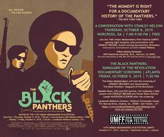 Stanley Nelson's 'The Black Panthers: Vanguard of the Revolution' Opens Today. '- The Black Panthers: Vanguard of the Revolution' - Film Forum Dates Democracy Now, Black Panther Party, Best Documentaries, Opening Weekend, Black Actors, Power To The People, Social Activities, History Channel, Cool Posters