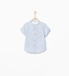 Image 1 of Mao collar shirt from Zara