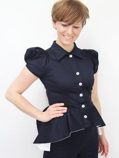This elegant short sleeve peplum jacket, made of beautiful coton is perfect for any special day in your life.you can wear it over your favourite top,