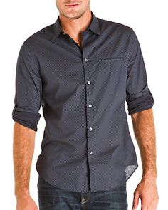 Some of you have to get in on this: John Varvatos Midnight Diamond Slim Fit Woven Shirt