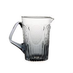 Steklen vrč za vodo, siv, VAN VERRE