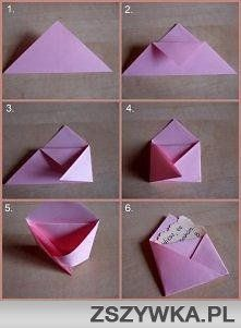 Make an envelope from a sheet of paper