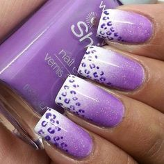 Purple Cheetah #nailart #nails #polish