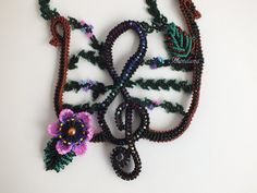 Hey, I found this really awesome Etsy listing at https://www.etsy.com/listing/260306971/treble-clef-music-necklace-beaded