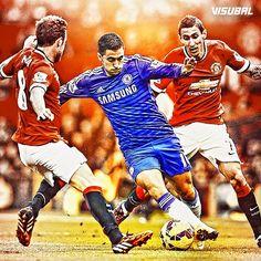 Eden #Hazard vs. Angel #DiMaria and Juan #Mata!