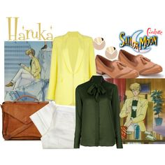 A fashion look from April 2013 featuring long sleeve blouse, Yellow Jacket and white pants. Browse and shop related looks. Sailor Moon Outfit, Sailor Moon Cosplay, Cosplay Outfits, Cosplay Costumes, Cosplay Ideas, Sailor Moon Collectibles, Themed Outfits, Inspired Outfits, Nerd Chic