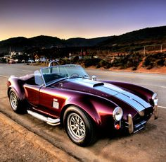 """Shelby Cobra. One of the very few American muscle cars that I would love to own."" but it can be a girl's car too! and I even like the color too."