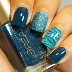 A fun twist on the accent nail!