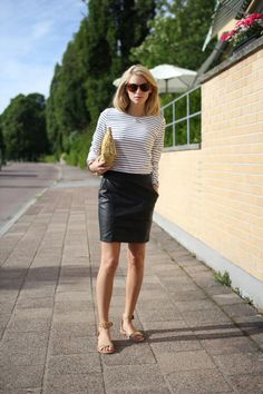 2013 Wearing my new bag from Acne, sweater from Gant, a vintage skirt, nude sandals from Wera Stockholm