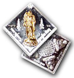 Rian Pra Luang Por Tuad Dern Dong - Solid Silver with Solid Gold Image Ongk Kroo Pim A - Sompochana Edition - Wat Mae Takrai, $220 U.S.