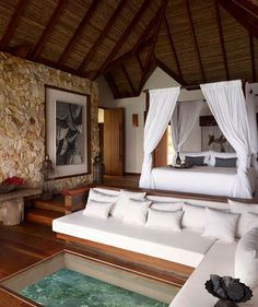 Tiered space for unobstructed ocean view; Song Saa Private Island, Cambodia