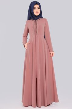 Abaya Fashion, Muslim Fashion, Women's Fashion Dresses, Muslim Dress, Hijab Dress, Simple Gown Design, Bridal Hijab Styles, Hijabi Gowns, Simple Gowns