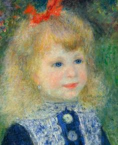 """""""A girl with a watering can"""" (1876) [Painting and Detail] By Pierre-Auguste Renoir, from Limoges, France (1841 - 1919) - oil on canvas; 100 x 73 cm ; 39 3/8 x 28 3/4 in - © National Gallery of Art, Washington, D.C., US Chester Dale Collection, 1963 http://www.nga.gov/ https://www.facebook.com/nationalgalleryofart"""