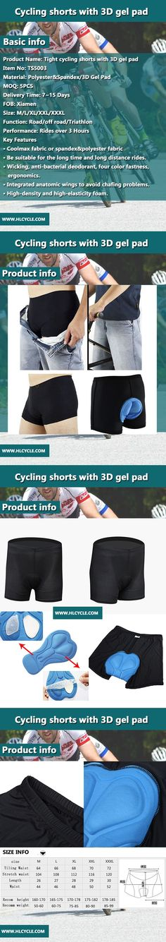 Why have to wear cycling underwear shorts?  1、When cycling that would cause oppression to the key position inevitable,which makes difference to carry on the family line if things continue this way.wearing cycling shorts not only protect yourself,but also play a part in wicking.what's more,it is very difficulty in finding. 2、Useful for nearly any occasion:cycling underwear matchs cycling shorts、casual pants and jeans.Reduce pain of hip by wearing cycling shorts.