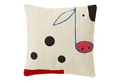 I love the way space is used on this pillow!  Could be used for a quilt square idea.