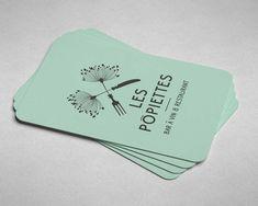 Les Ppiettes Cartes De Visite Par Steve Demont Logotype Restaurant Businesscard Modle