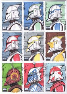 SW Galaxy 6 10 Sketch cards by Hodges-Art.deviantart.com on @deviantART