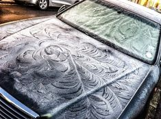 Dirty Cars Get The Most Beautiful Frost Feathers