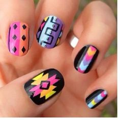 Aztec nails pinned with Bazaart