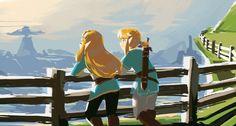 The Legend of Zelda Breath of the Wild Link and Zelda (@tsunderica) | Twitter