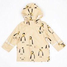 Mini Rodini Rain Jacket - Penguin Print