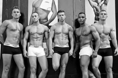 Urban Active men's underwear campaign. Images by Louise Lowe and Brian Roberts