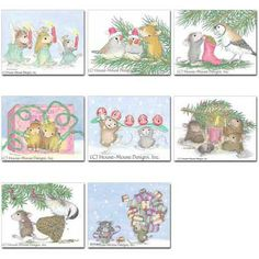 """""""8 diff Christmas Cards + 8 Env"""", Stock #: CC-5, from House-Mouse Designs®. This item was recently purchased off from our web site, www.house-mouse.com. Click on the image to see more information."""