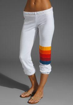 AVIATOR NATION Rainbow Stitch Sweat Pant
