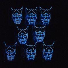 般若!般若!般若! 暗闇で目立ちすぎる仮装マスクルミナリーマスクはMakuakeでプロジェクト実施中! #makuake #ルミナリーマスク #般若 #般若面 #ラスボス般若