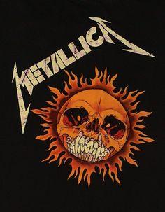 Pushead - Metallica - Flame Skull