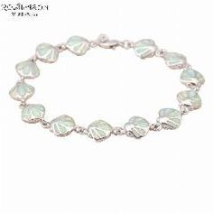 [ 19% OFF ] Hot Sell Wholesale & Retail White Fire Opal Silver Stamped Fashion Jewelry Bracelets For Women Fine Jewelry Ob037