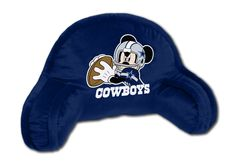 NFL Dallas Cowboys Mickey Mouse Bed Rest Pillow