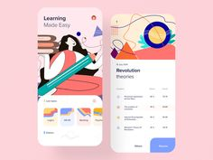 E-learning App designed by Zuairia Zaman for Orizon: UI/UX Design Agency. Connect with them on Dribbble; the global community for designers and creative professionals. Web Design, App Ui Design, User Interface Design, Graphic Design, Flat Design, Ui Design Mobile, Design Youtube, Coaching, E Learning