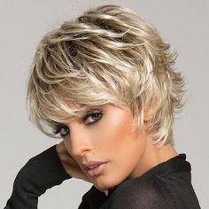 KAMI 080 Spiky Layered Short Straight Synthetic Wig with Bangs - This KAMI wig 080 features razor-finished layers for vibrant texture and easy styling. Short Shag Hairstyles, Trending Hairstyles, Crown Hairstyles, Short Hairstyles For Women, Hairstyle Short, Simple Hairstyles, Celebrity Hairstyles, Pretty Hairstyles, Short Haircuts With Bangs