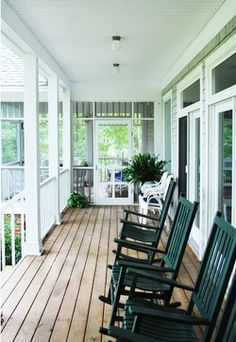 Get inspired to tidy up your landscaping and front yard with this collection of crush worthy porches {InspiredWives.com}
